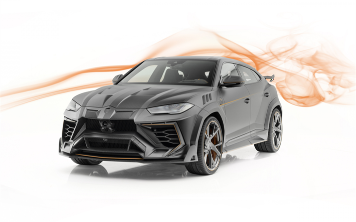 Download wallpapers Lamborghini Urus, Mansory, 2019, black