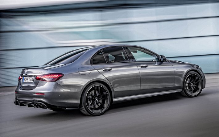 Download wallpapers 2021, Mercedes-Benz E-Class, exterior, rear view,  luxury sedan, new gray E-Class, W212, German cars, Mercedes for desktop  free. Pictures for desktop free