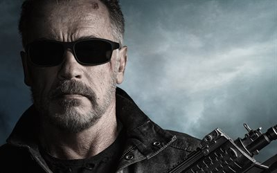 Terminator, 4k, 2019 movie, Terminator Dark Fate, science fiction films, Arnold Schwarzenegger