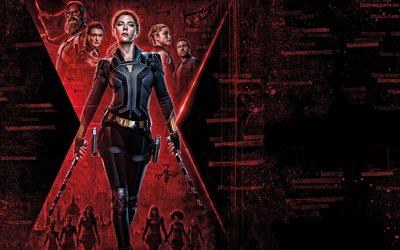 Black Widow, 2020, 4k, poster, promotional materials, Scarlett Johansson, main character