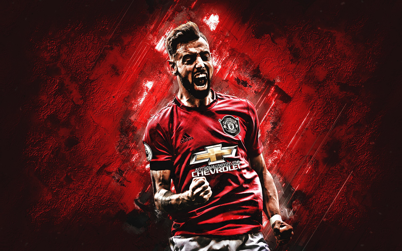 Download Wallpapers Bruno Fernandes, Manchester United FC
