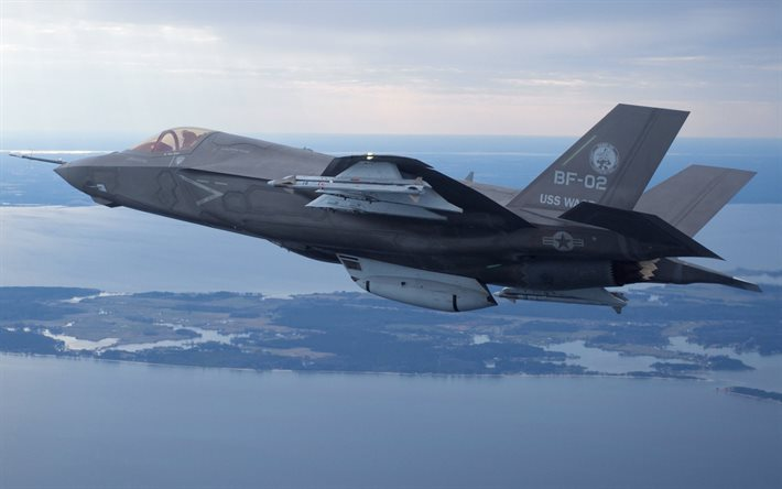 Lockheed Martin F-35 Lightning II, US Air Force, F-35 Lightning, F-35, American combat aircraft, military aircraft