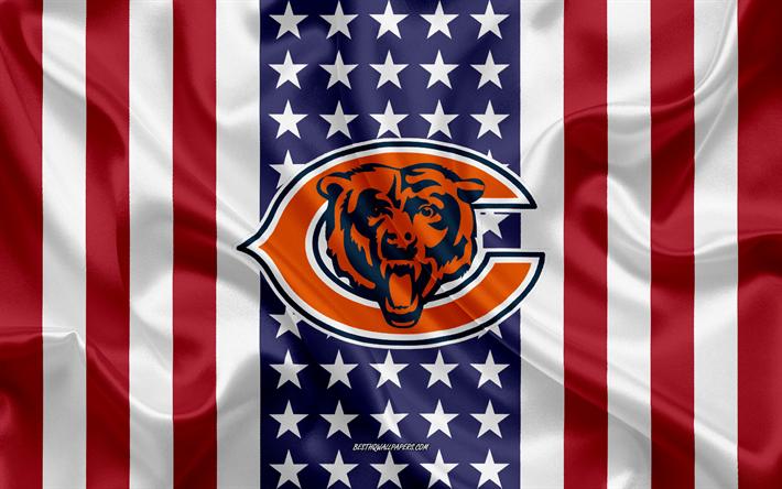 Chicago Bears, 4k, logo, emblem