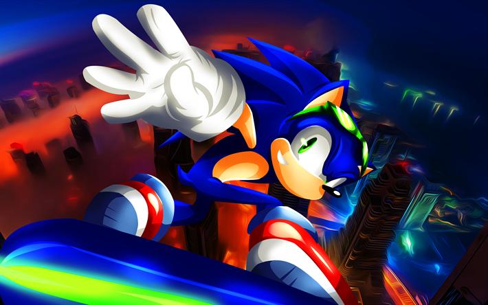 Download Wallpapers Sonic 4k 2019 Games Sonic Riders Zero Gravity Poster Un Gravitify Sonic 4k For Desktop Free Pictures For Desktop Free