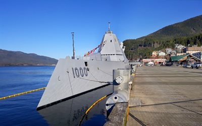 USS Zumwalt, DDG-1000, guided missile destroyer, Zumwalt class, American warship, US Navy, United States Navy, USA