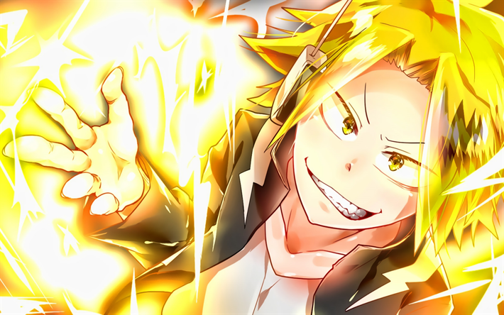 Download Wallpapers Denki Kaminari My Hero Academia Stun