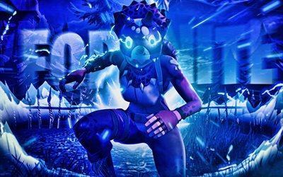 Tricera Ops, artwork, Fortnite Battle Royale, 2019 games, Fortnite, cyber warriors, Tricera Ops Fortnite