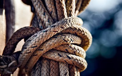 Rope, bay, knot, thick rope