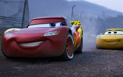 Cars 3, animated movie, 2017, Lightning McQueen