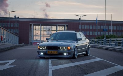 BMW 7-Series, E32, low rider, tuning, stance, BMW