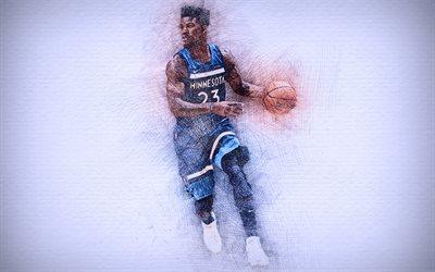 Download Wallpapers Jimmy Butler 4k Artwork Basketball Stars