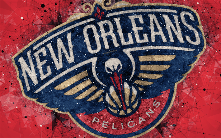 Download Wallpapers New Orleans Pelicans 4k Creative