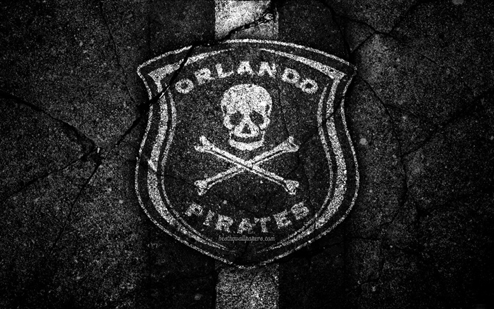 Download Wallpapers Orlando Pirates Fc 4k Emblem South African