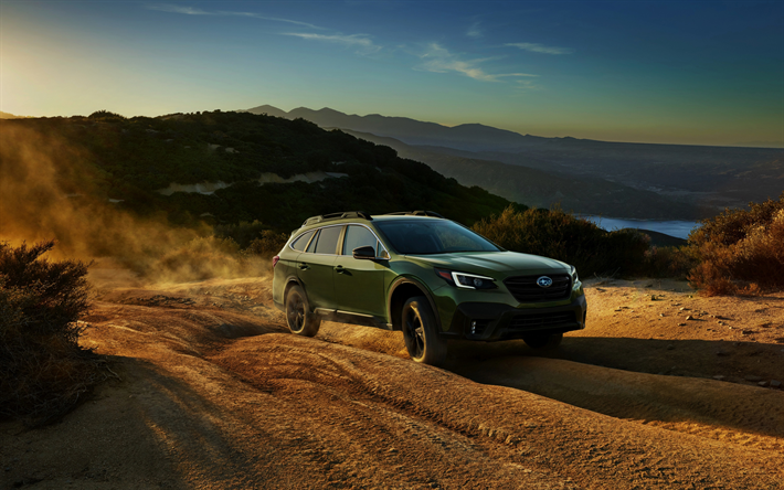 Download wallpapers Subaru Outback, 4k, offroad, 2019 cars