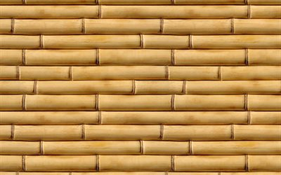 horizontal bamboo texture, bambusoideae sticks, bamboo textures, bamboo canes, bamboo sticks, brown wooden background, bamboo