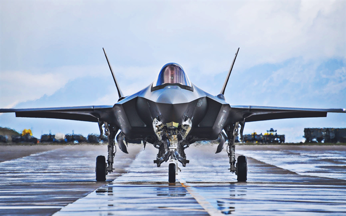 Lockheed Martin F-35 Lightning II, aerodrome, fighter, combat aircraft, jet fighter, Lockheed Martin, US Army