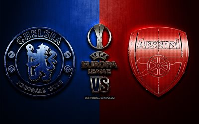Chelsea vs Arsenal, fan art, 2019 Finale di UEFA Europa League, 29 Maggio 2019, glitter, logo, Chelsea FC, Arsenal FC, creativo, UEFA Europa League, in Finale di UEFA, il Chelsea FC vs Arsenal FC