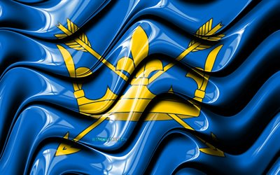 Suffolk flag, 4k, Counties of England, administrative districts, Flag of Suffolk, 3D art, Suffolk, english counties, Suffolk 3D flag, England, United Kingdom, Europe