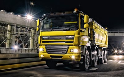 DAF CF, yellow mining truck, new trucks, cargo delivery concepts, DAF