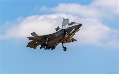 Lockheed Martin F-35 Lightning II, american fighter bomber, F-35B, USAF, combat aircraft, US military aircraft