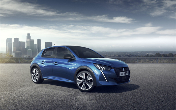 Peugeot 208, parking, 2019 cars, compact cars, french cars, 2019 Peugeot 208, Peugeot