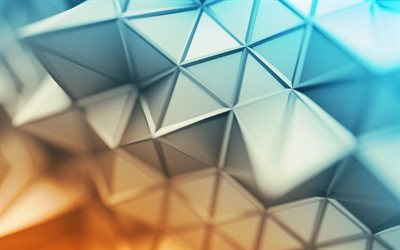 3d blue background, 3d triangles, creative art, abstract 3d background, geomteric backgrounds