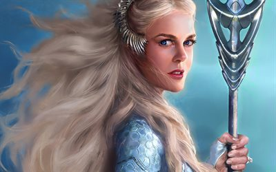 Queen Atlanna, artwork, Aquaman, 2018 movie, fan art, Nicole Kidman, adventure, fantasy
