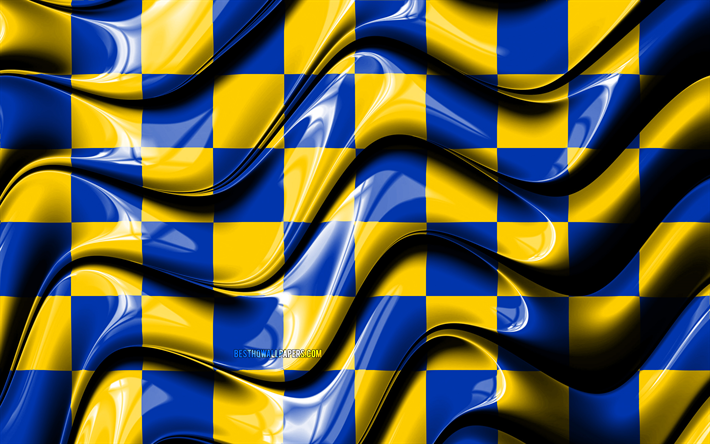 Surrey flag, 4k, Counties of England, administrative districts, Flag of Surrey, 3D art, Surrey, english counties, Surrey 3D flag, England, United Kingdom, Europe