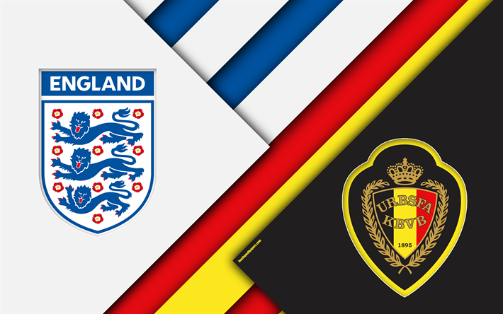 Download wallpapers England vs Belgium, football match, 4k ...