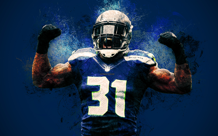Kam Chancellor Wallpapers: Download Wallpapers Kam Chancellor, 4k, Art, NFL, Seattle