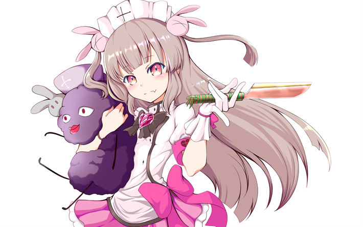 Download wallpapers Sana Natori, 4k, manga, knife, Virtual