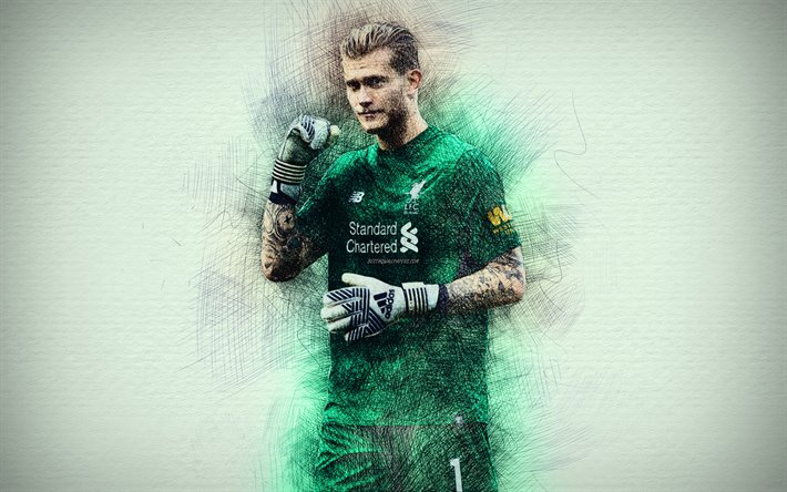 Download Wallpapers Loris Karius, 4k, Artwork, Goalkeeper