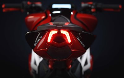 MV Agusta Brutale 800 RR, LH44 Edition, 2018, Rear view, LED taillights, sports bike, tuning, MV Agusta