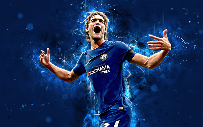 Download Wallpapers 4k Marcos Alonso Abstract Art Football Stars