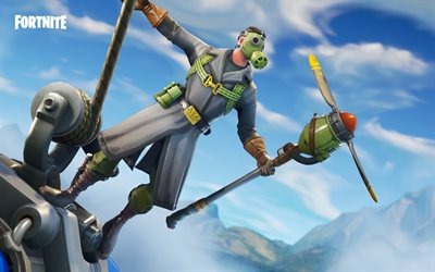 Sky Stalker, Fortnite Battle Royale, 2018 games, Fortnite, cyber warrior