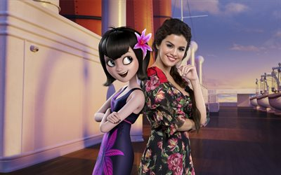 Hotel Transylvania 3, Summer Vacation, 2018, Mavis, Selena Gomez, poster, new cartoons