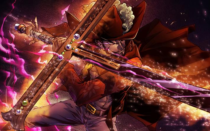 Download Wallpapers 4k Dracule Mihawk Sword Juraquille Mihawk Manga One Piece Juracule Mihawk For Desktop Free Pictures For Desktop Free