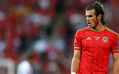 Gareth Bale, Welsh footballer, portrait, Wales, national team, football