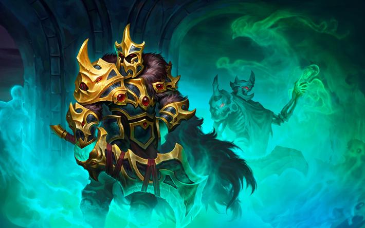 Downaload Overlord King And Warriors Art Wallpaper: Download Wallpapers 4k, Warrior, Art, Dota 2 For Desktop