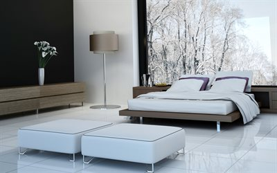 Bedroom, modern design, white bedroom, bedroom design