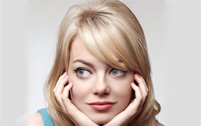 Emma Stone, 2018, blonde, movie stars, Hollywood, photoshoot, portrait, american actress