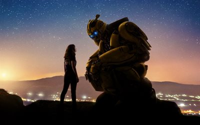 Bumblebee, 2018, 4k, art, poster, Transformers, characters
