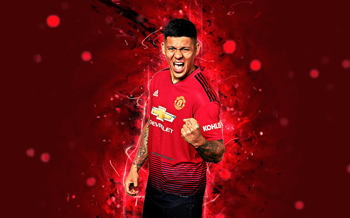 Download Wallpapers Marcos Rojo, 4k, Season 2018-2019