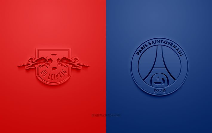 Download Wallpapers Rb Leipzig Vs Paris Saint Germain Uefa Champions League 3d Logos Promotional Materials Red Background Champions League Rb Leipzig Vs Psg Football Match Paris Saint Germain Rb Leipzig For Desktop Free Pictures