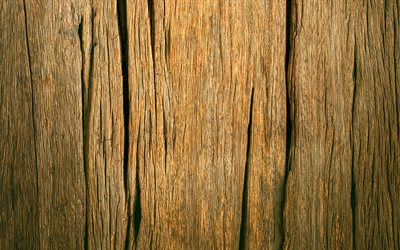 cracked wooden texture, macro, vertical wooden texture, brown wooden background, wooden textures, brown backgrounds, wooden backgrounds, brown wood