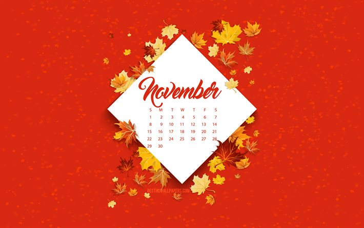 thumb2 2020 november calendar red autumn background autumn 2020 november 2020 calendar autumn