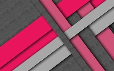 lines, pink, gray, creative, geometry, Lollipop, stripes
