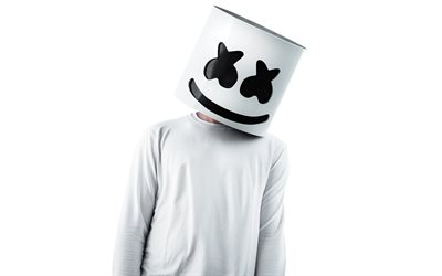 Marshmello, 白背景, DJ, レハウス, superstars, DJ Marshmello