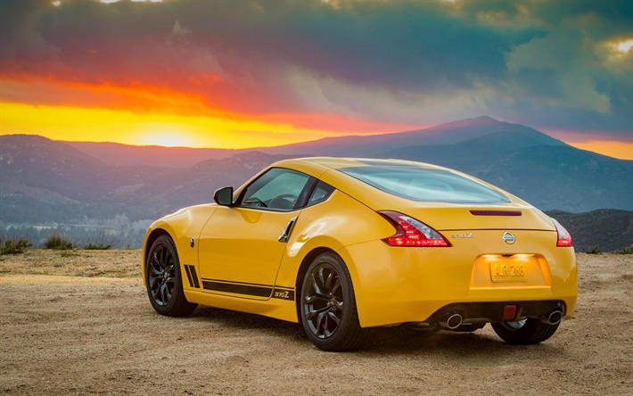 download wallpapers nissan 370z 2017 heritage edition yellow 370z sports car tuning 370z japanese cars nissan for desktop free pictures for desktop free car tuning 370z japanese cars nissan