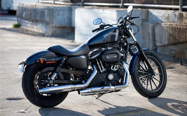 Download Wallpapers 4k, Harley-Davidson Sportster Iron 883